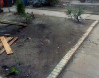 Der Hinterhof vorher